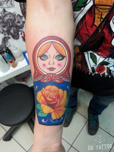 matrioshka tatuaż tattoo russian doll