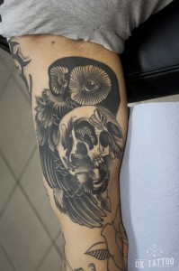owl tattoo oldschool