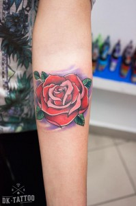 oldschool-rose-tattoo